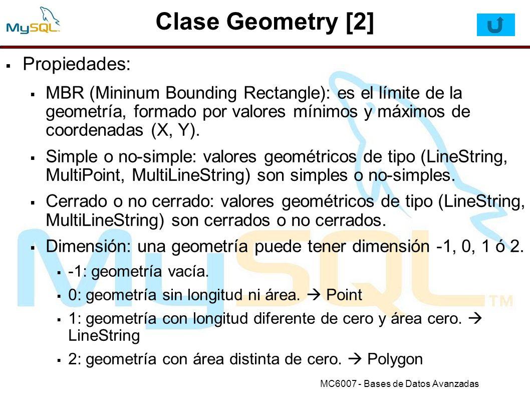 Clase Geometry [2] Propiedades: